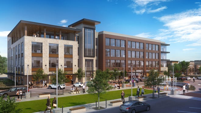 A rendering of One Fountain Plaza, the recently completed 105,500-square-foot office building at Fountains at Gateway.