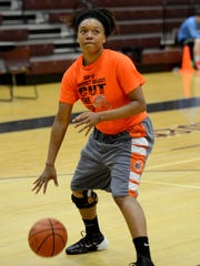 Middleton's Rachelle Parks practices for the all-star game that will be held Saturday at Liberty Tech.