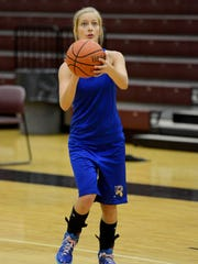 Riverside's Holly Chumney practices for the all-star game that will be held Saturday at Liberty Tech.