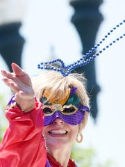 The Miss USA and Miss Teen USA Mardi Gras parade Monday afternoon in downtown Shreveport.