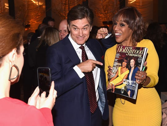 Dr.Oz and Gayle King attend The Hollywood Reporter's