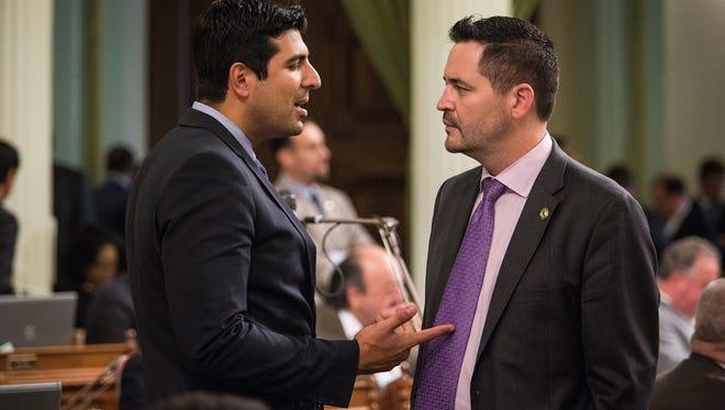 Assemblymen Matt Dababneh (D-Encino), at left, and Eric Linder (R-Corona), right.