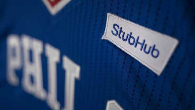 The StubHub logo will appear on the 76ers' game jerseys starting in the 2017-18 season