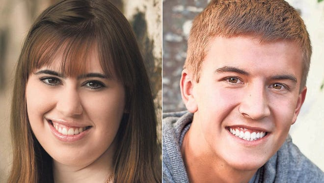 Adelle Sturgell and Ryan Risgaard of Neenah High School are this week's top scholars.