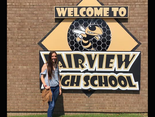Sara Lopez Gomez on her first day at Fairview High
