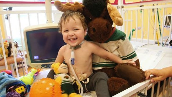 Thomas Richards was born without a trachea. Doctors