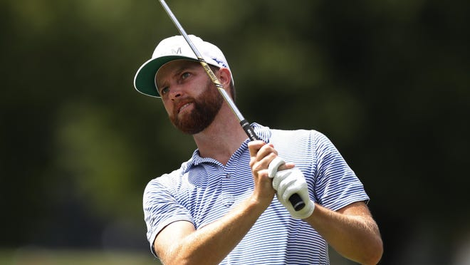 Chris Kirk, a former University of Georgia standout, drives on the 15th tee during the second round of the Rocket Mortgage Classic on Friday at the Detroit Golf Club in Detroit.