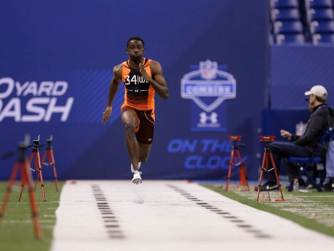 The 40-yard dash serves as the main event when it comes