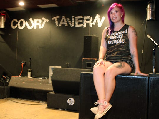 Brittney Dixon, the manager of the Court Tavern in New Brunswick.