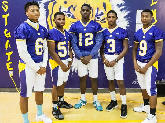 Westgate defensive standouts Nathaniel Gray (6), Deandre Bias (56), Oteder Foster (12), Ernest Dejuean (3) and Ja'tyrin Allen (9) are planning to made huge strides this season.