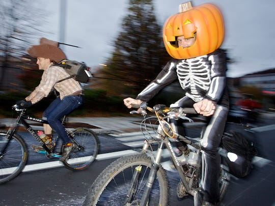 The Asheville on Bikes Pumpkin Pedaller is Oct. 28 starting in the River Arts District.