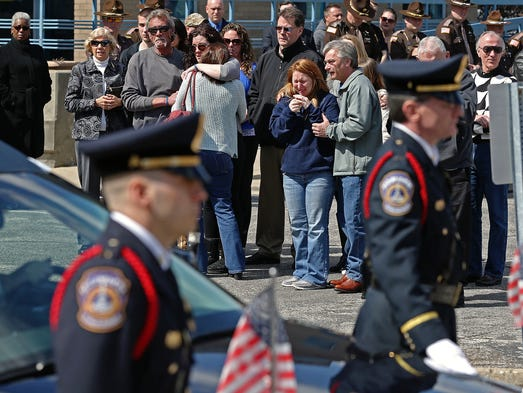 Family and friends of Howard County Deputy Carl A.