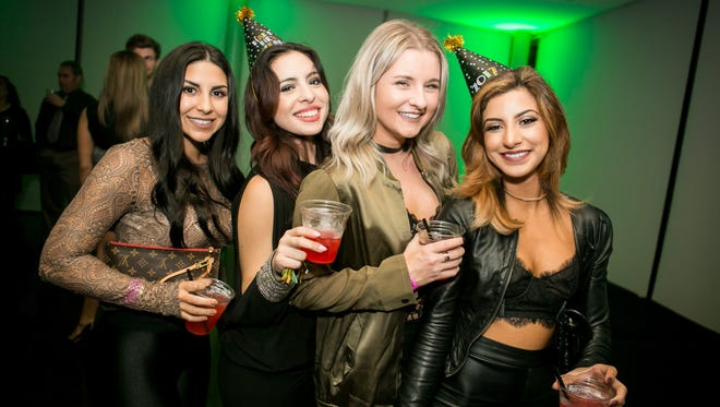 These ladies had a blast during W Scottsdale's New Year's Eve party on Saturday, December 31, 2016.
