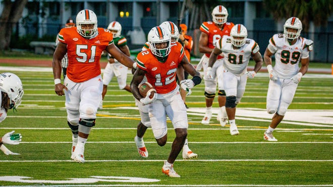 The Miami Hurricanes held their first scrimmage this weekend.