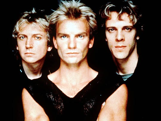 The Police, Andy Summers,  from left, Sting, Stewart Copeland.