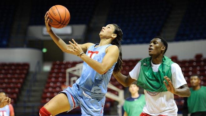 Louisiana Tech transfer Ashley Santos is one of several new faces on the Lady Techsters' roster.