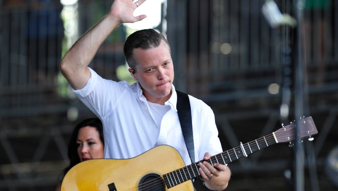 Jason Isbell plays at the Bonnaroo Music and Arts Festival in Manchester, Tenn on Sunday, June 12, 2016.