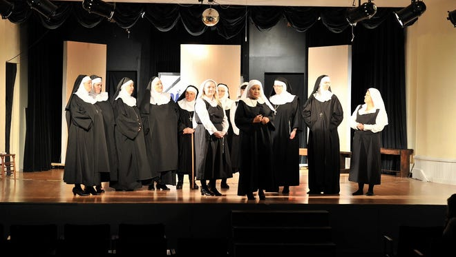 "The Millbrook Community Players rehearse for ""Sister Act: The Musical), which opens Thursday, Feb. 22.  (Kenneth Cochran/Special to the Advertiser)"