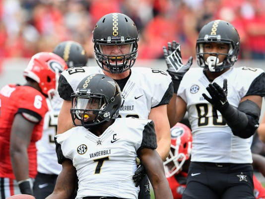 NCAA Football: Vanderbilt at Georgia