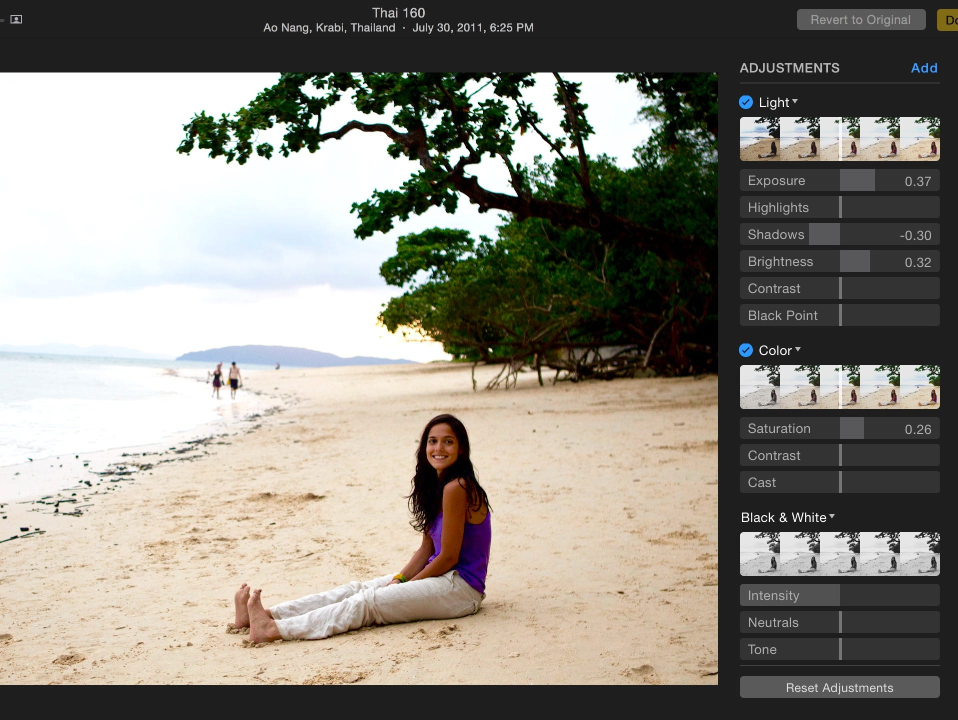 You can make all sorts of edits in Photos for OS X.