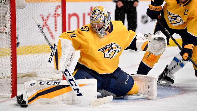 Predators goaltender Juuse Saros is a pending restricted free agent.