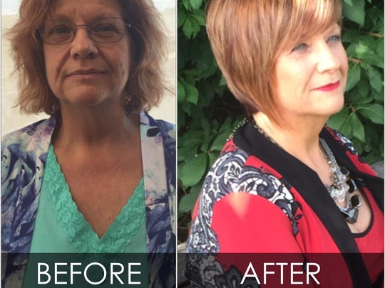Before and after makeover photos of Debi Wilbur.
