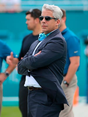 Miami Dolphins general manager Dennis Hickey was fired by the team on Saturday.