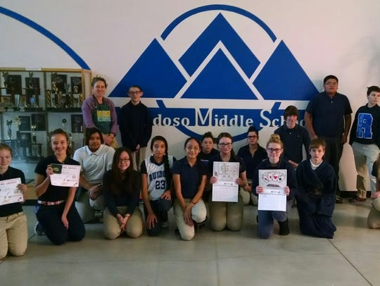Ruidoso Middle School art students created unique posters