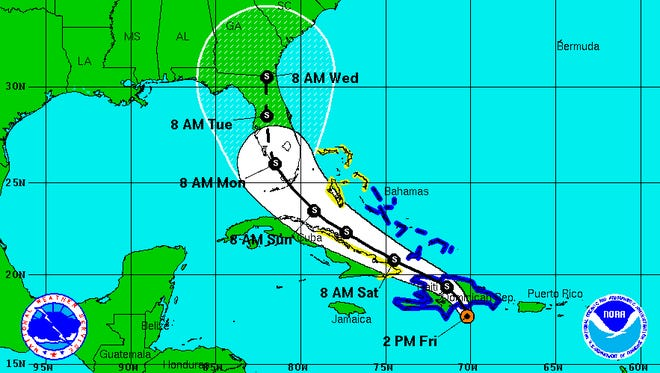 At one point, the National Hurricane Center projected Tropical Storm Erika would make direct hit on Southwest Florida. The storm dissipated before getting close to Florida.
