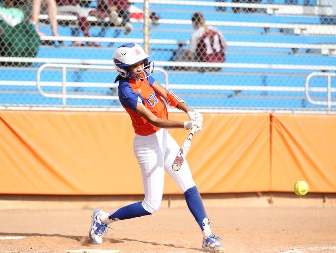 San Angelo Central High School's Kaleigh Ochinang makes
