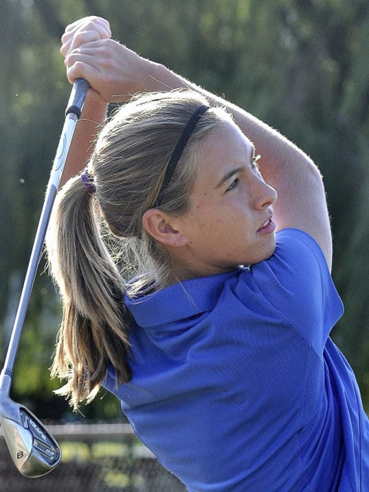 Spring Grove's Victoria Ross competed against the boys this summer in the York County Junior Golf Association White Division. She even won a White Division title during an event on June 30 at Heritage Hills.