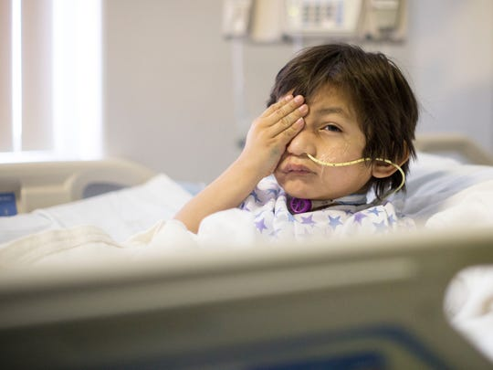 Kevin Vicente, 4, recovers at Maricopa Medical Center