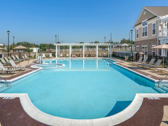 Four Seasons at Monroe has a pool and hot tub for all