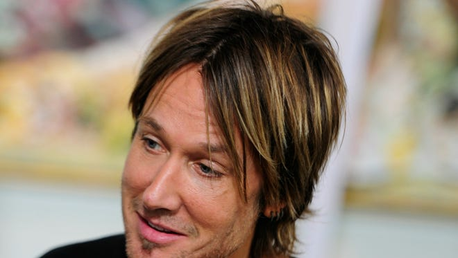 Keith Urban talks with the media during American Idol auditions in Nashville.