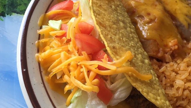 Fiesta Jalisco Mexican Restaurant in Indian Harbour Beach offers lunch specials like this taco and enchilada combo.