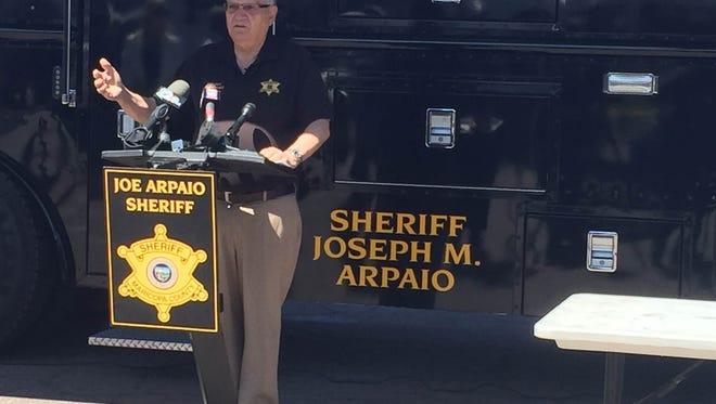 Sheriff Joe spoke to press Saturday morning
