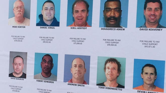 FILE PHOTO: The Maricopa County Sheriff's Office's top 10 deadbeat dads, in May 2015.