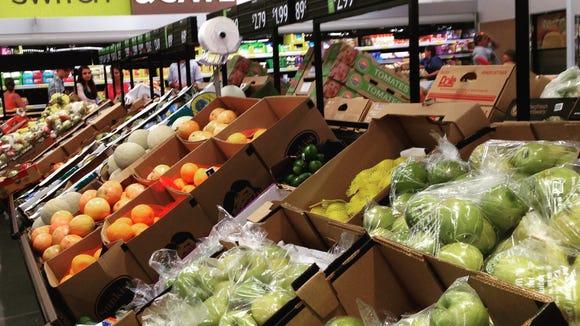 Fresh produce at Aldi.