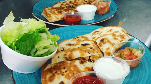 Quesadillas ... less bread, but the cheese remains the same.