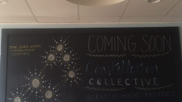 A chalkboard shows the anticipation of the owners to be in their own space.