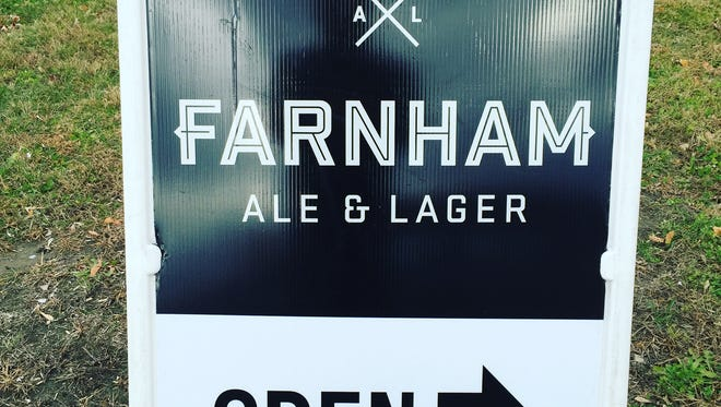 Sign to new brewery in town, Farnham Ale & Lager