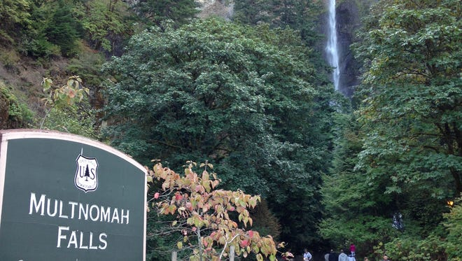 Multnomah Waterfalls, in the Columbia River Gorge National Scenic Area.