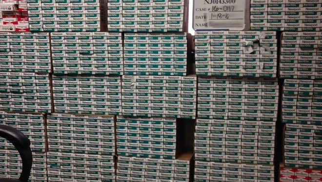 The New Jersey Department of the Treasury seized $50,000 worth of cigarettes following an arrest in Riverdale.