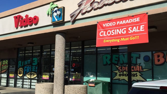 VIDEO PARADISE: Video Paradise, at Alma School and Warner roads in Chandler, is from a bygone era, when video stores were a hot weekend stop for people of all ages and the wait for a new release created some buzz.closing. It closed at the end of January 2016 after 25 years, according to the owner.