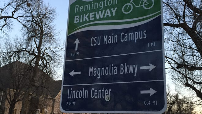 The city of Fort Collins on Wednesday began installing bicycle wayfinding signs along the Remington Bikeway Corridor that will give directions to bicyclists, pedestrians and drivers.