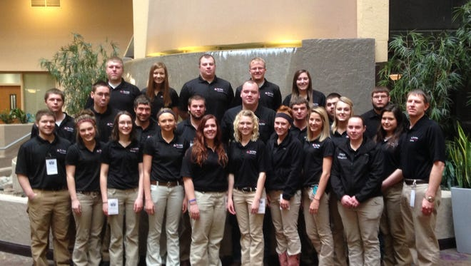 Fox Valley Technical College ag students recently participated in a competition in Kansas City.