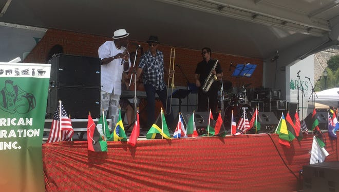 Live music was being played during the African American festival at the Kensico Dam.