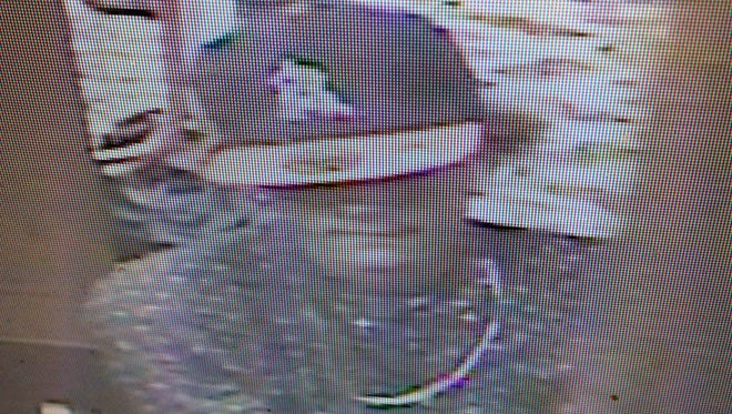 A security photo showing the suspect in the theft case at Rail City Casino.
