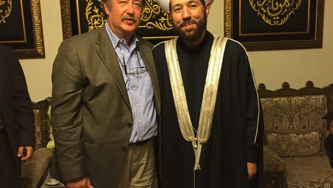 John Mesler (left) meets with the Grand Mufti of Syria, Sheikh Ahmad Badreddin Hassoun
