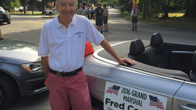 Retired Mendham High School Faculty member Fred Corona was the grand marshall of the 2016 Mendham Pastime Club's Labor Day Parade. He is a sales associated affiliated with Coldwell Banker in Mendham.